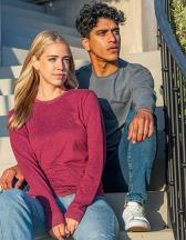 Unisex Sueded Long Sleeve Crew-T